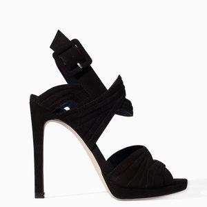 Zara Black High Heel Platform Sandals - US 7.5